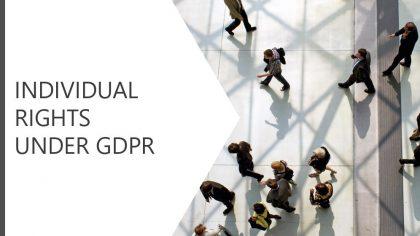 Individual Rights under GDPR