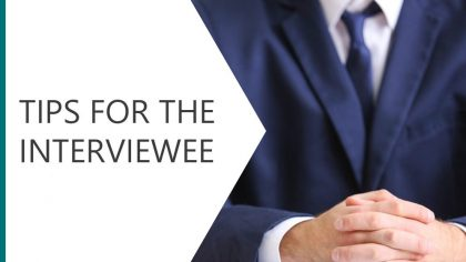 Tips for the Interviewee