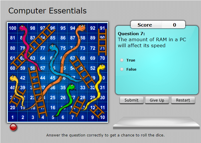 snakes ladders computer essentials
