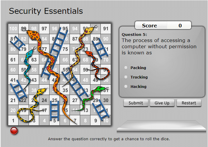 snakes ladders security essentials