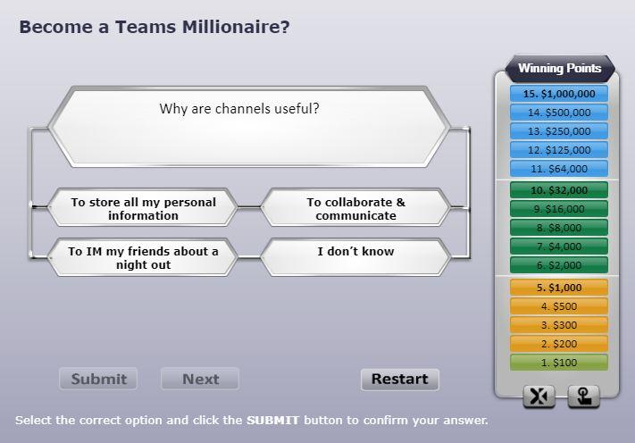Teams Millionaire Game