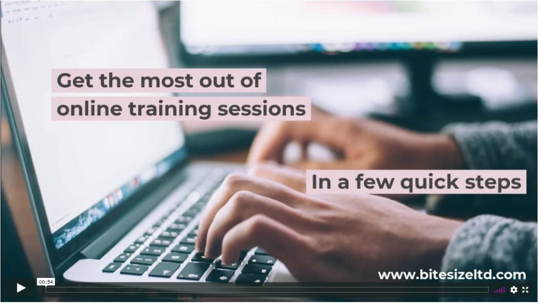 Get the most out of online training sessions