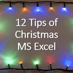 12 tips christmas excel 2